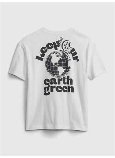 Gap Grafik Desenli T-Shirt Oranj